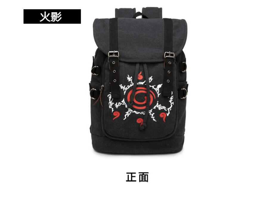 Anime Naruto Cosplay Student campus male and female canvas leisure backpack child birthday gift anime fairy tail cosplay anime shoulder bag male female student travel leisure large capacity backpacker birthday gift