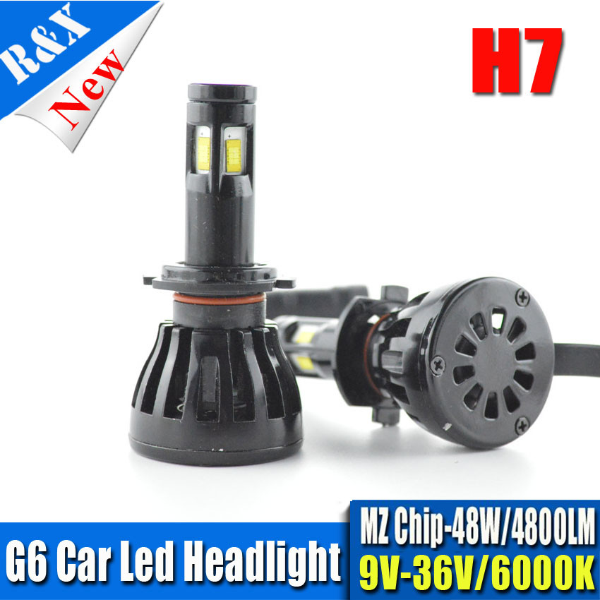 Ruiandsion Car Headlight H7 H4 LED H8/H11 HB3/9005 HB4/9006 H1 H3 9012 H13 9004 9007 96W 9600lm Auto Bulb Headlamp 6000K Light auxmart car led headlight h4 h7 h11 h1 h3 9005 9006 9007 cob led car head bulb light 6500k auto headlamp fog light