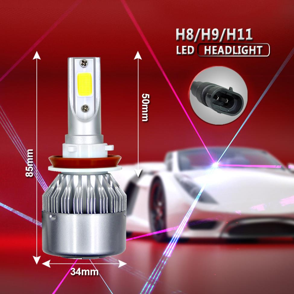 uto Car H11 H9 H8 COB LED Headlight 80W 8000LM Car LED Headlights Bulb Fog Light 6000K 12V in Car Headlight Bulbs LED from Automobiles Motorcycles