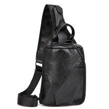 Herren pu-leder vintage brust tasche mode umhängetasche für männer wasserdichte schlinge crossbody taschen umhängetaschen back pack