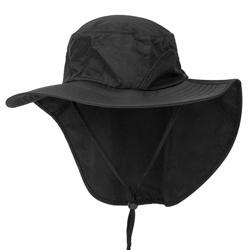 SAGACE hoeden Unisex Zomer Brede Rand Zonnehoed met Nek Flap Vissen Safari Cap voor Outdoor Wandelen reizen modis casquette 404