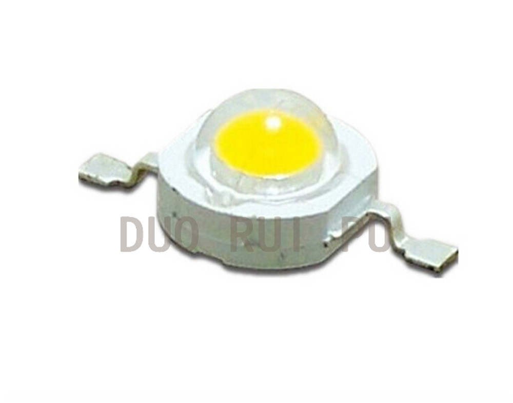 1W High power LED lamp bulbs Warm White 3000-3200K 3.00-3.4V 100-120LM  TaiWan Chips Free Shipping 3w led rgb high power led lamp bulbs rgb six legs 350ma 3 2 3 4v taiwan genesis hpo chips free shipping