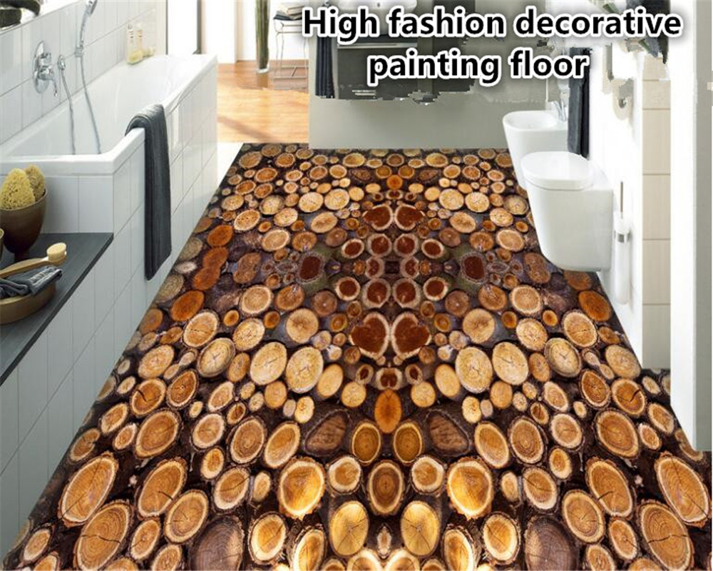 Beibehang High End Personality Pvc Wallpaper Fashion Tree Section Year Round Wooden Bedroom Bathroom Floor 3d Tapety In Wallpapers From Home