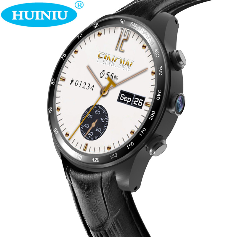 Здесь можно купить   HUINIU Q7 Dial Call Smartwatch Passometer Fitness Heart Rate Tracker Wrist Clock Support WIFI GPS SIM Card Watch for Android IOS Бытовая электроника