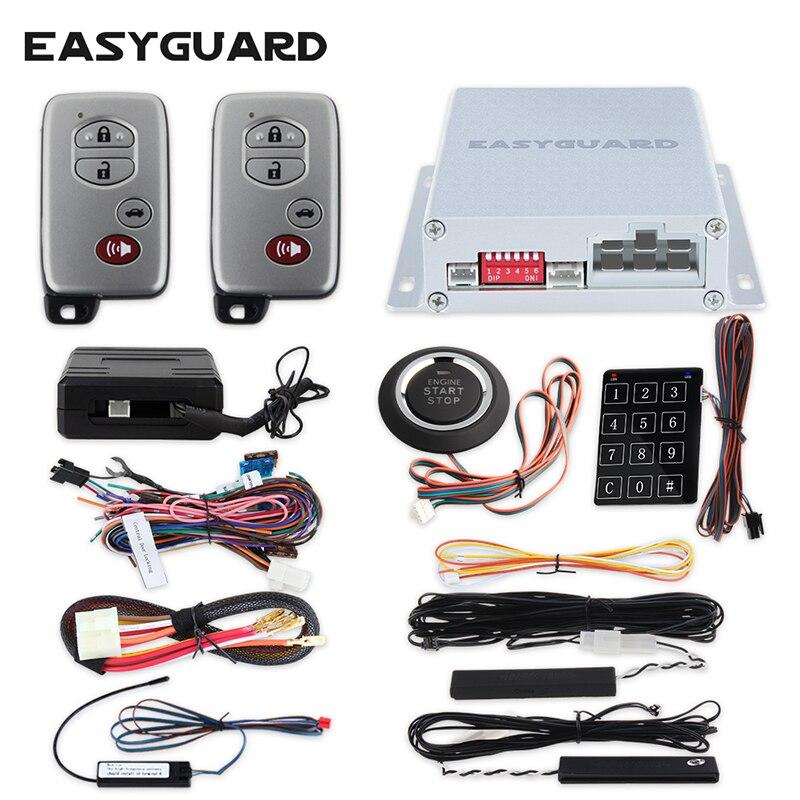 Kit d'alarme de voiture de bonne qualité anti-démarrage passif sans clé, démarrage/arrêt du moteur à distance et démarrage par bouton-poussoir