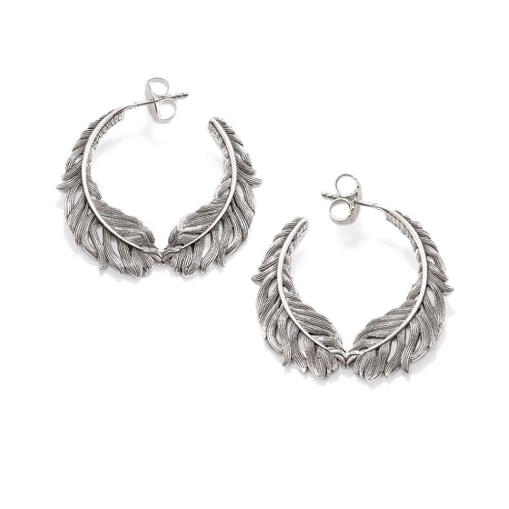 Mia Diamonds 10k White Gold Endless Hoop Earrings 37mm x 1.2mm