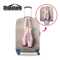 Dispalang Ballet Shoes Print Luggage Suitcase Trolley Case Protective Cover For Women Thicken Elastic Covers For