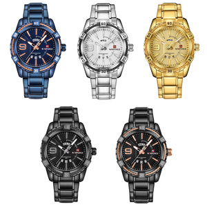 Image 4 - NAVIFORCE Fashion Golden Watch Men Luxury Brand Army Military Quartz Clock Mens Watches Waterproof Week Date Sport Wrist Watches