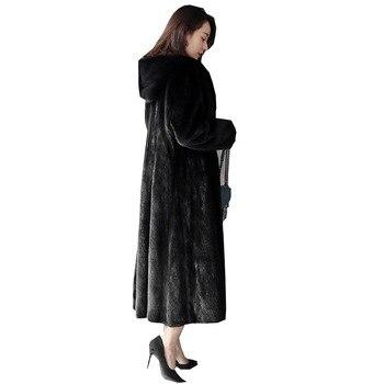 S-6X New Fashion Winter Clothes Plus Size Women High Imiation Mink Long Overcoat Faux Fur Coat