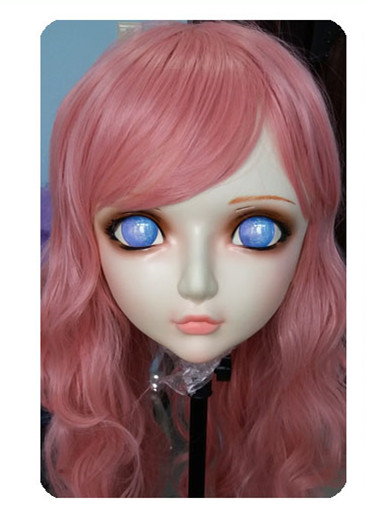 Novelty & Special Use Women/girl Sweet Resin Half Head Kigurumi Bjd Mask Cosplay Japanese Anime Lifelike Lolita Mask Crossdressing Sex Doll Easy And Simple To Handle Kids Costumes & Accessories dm023