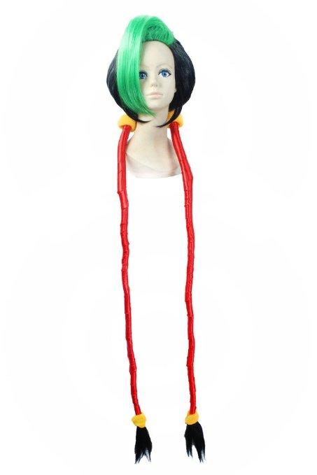 120 см зеленый челкой косы лига легенд LOL широкий пушки обувь-loli аниме lol-джинкс косплей - ccutoo Factory Wigs Store store