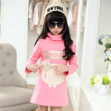 Girl Cotton Character Blouse 2-13years Girl Character Print T-shirt Cotton Girls T-shirts Private Girl's Turtleneck T-shirt