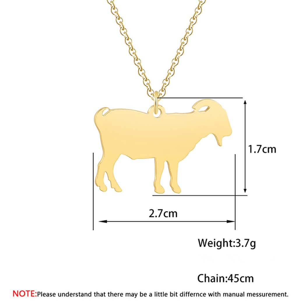 Cxwind Lucky Zodiac Aries Pendant Necklace Link Chain Choker Fashion New Design Goat Necklaces Jewelry For Women Statement Gift