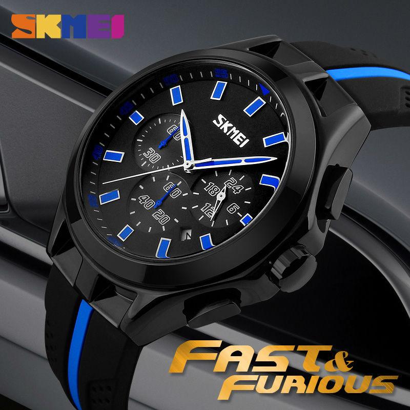 SKMEI Relogio Masculino Fashion Casual Quartz Watches 30M Waterproof Chronograph Wristwatches Man Fashion Silicone Strap Watch skmei 2015 relogio 0853