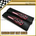 Стайлинга автомобилей 2 шт./пара Для RS Красный Углерода Ремень безопасности Обложка Универсальный JDM