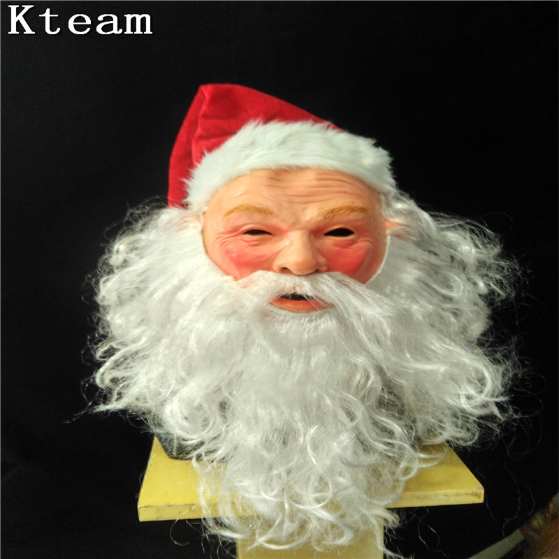 DHL Fast Halloween Party Cosplay Navidad Santa máscara de Santa Claus y ciervos látex máscara hombre viejo adulto cabeza completa disfraz con máscara Cosplay