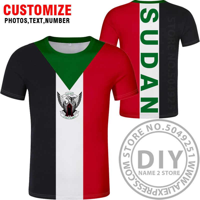 Суданская футболка «сделай сам» Бесплатная изготовление под заказ имя номер sdn футболка Национальный флаг ислам sd суданская Арабская арабская страна печать фото одежда
