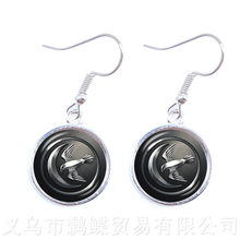 Song of Ice and Fire Game of Thrones House Stark Wolf Earrings Glass Cabochon Time Pendant Earrings For Women(China)