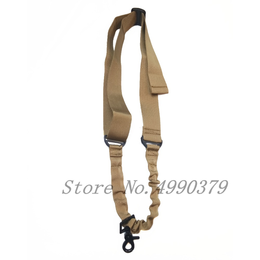 Image 4 - Tactical One Single Point Bungee Rifle Gun Sling Strap Airsoft Military Hunting System Universal Strap Heavy Duty-in Hunting Gun Accessories from Sports & Entertainment