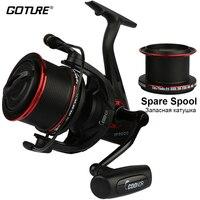 Goture 18KG Max Drag Fishing Reel Long Shot Spinning Fishing Reel Surf Casting Reels YF9000 With A Spare 8000 Metal Spool