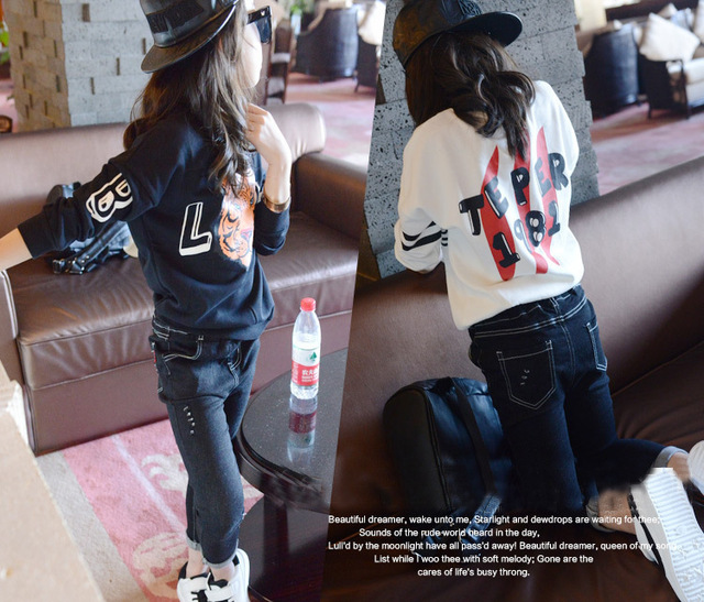 Children's Hair Autumn Girl Long Sleeve Tiger T Pity Personality Head Sweater Pullover Unlined Upper Garment T-shirts