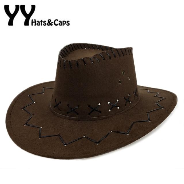 Sombreros de vaquero para niños con los campos sombreros mujer americana  occidental Niños sombrero vaquero Faux e070846025d