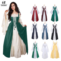 Của người phụ nữ Renaissance Victoria Medieval Gothic Dài Dresses Cho Halloween Bóng Gowns Trang Phục Gothic Evening Dresses