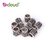 Hair-Beads Braiding-Hair Dreadlock Clip-7mm-Hole Silver for 10pcs/Lot Adjustable Beauty
