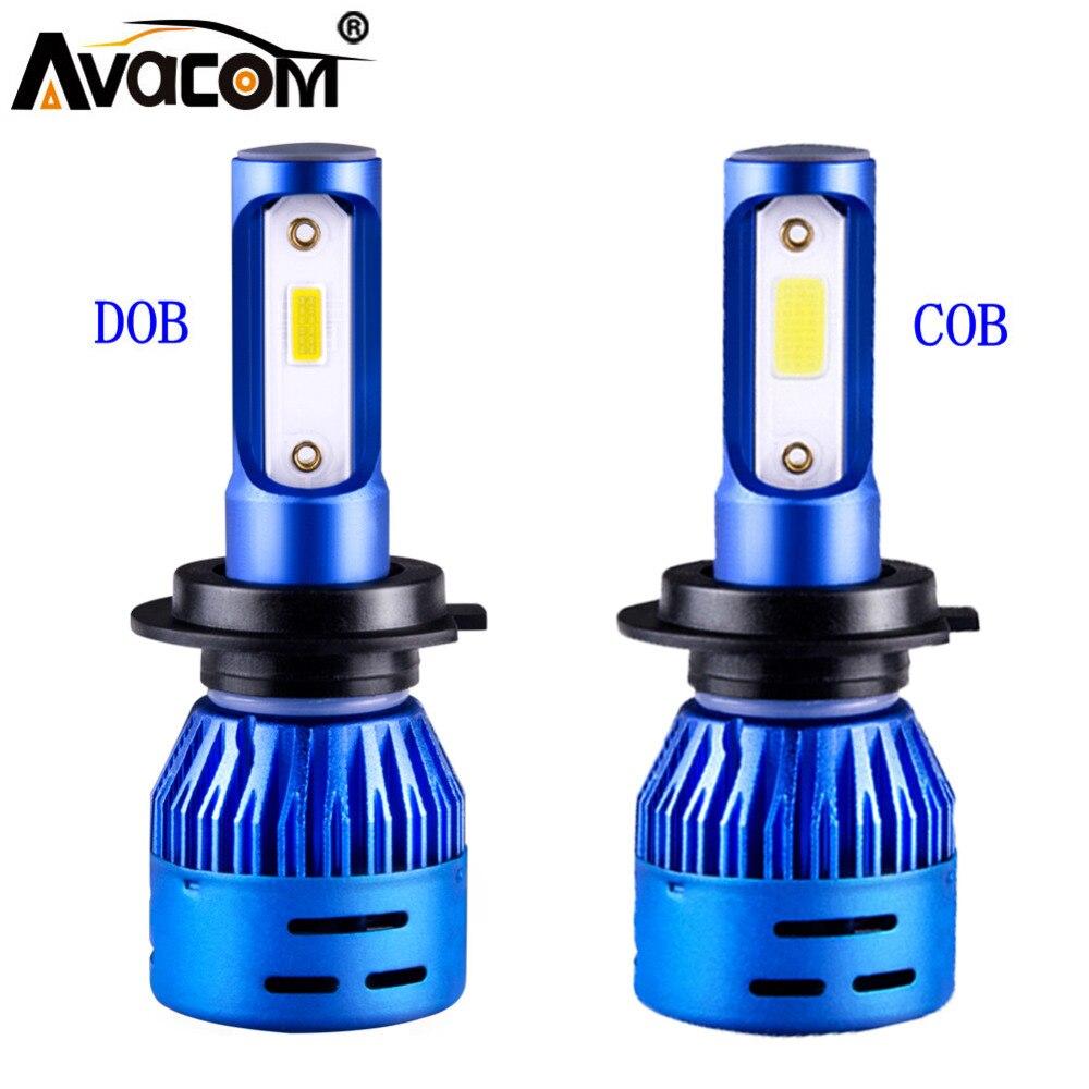 Avacom 2 Pcs Mini LED H1 H7 Car Bulbs 12V LED H11 9005/HB3 9006/HB4 24V COB/DOB 6500K 72W 8000Lm LED H4 Turbo Auto Ice Lamp Avacom 2 Pcs Mini LED H1 H7 Car Bulbs 12V LED H11 9005/HB3 9006/HB4 24V COB/DOB 6500K 72W 8000Lm LED H4 Turbo Auto Ice Lamp