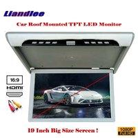 19 дюймов автомобильный монитор для монтажа на крышу/откидной Дисплей/потолочный TFT светодиодный Экран/1080 P HD MP5 плеер RGB светодиодный цифрово