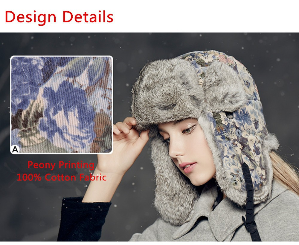 Kenmont Winter Outdoor Warm Women Girl Lady Real Natural Rabbit Fur ... 1f969f41b407