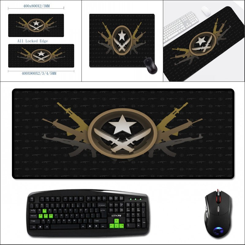 Mairuige for Fps Game Lovers 400x900MM Big Mouse Pad Table Mats Csgo Pattern Printed Counter Strike Global Offensive Gaming Mat