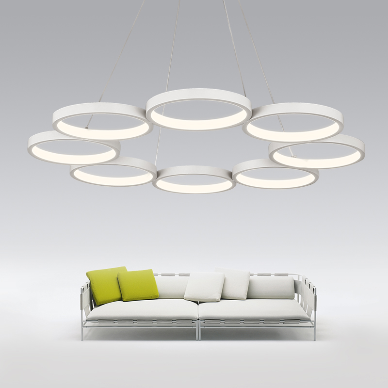 Modern LED Acrylic Pendant lights White Shade Pendant lamp For Living Room Bedroom Hanging Suspension Lamparas de techo Colgante