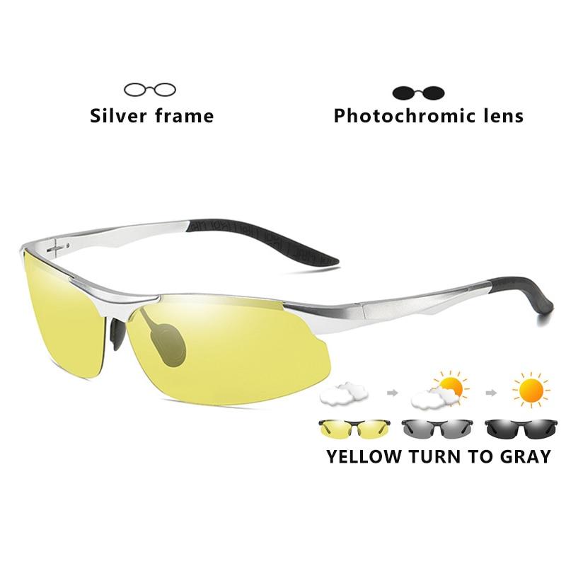 Aluminum Magnesium Photochromic Polarized Sunglasses Men Driving Glasses Day Night Vision Driver Goggles Oculos De Sol Masculino 9