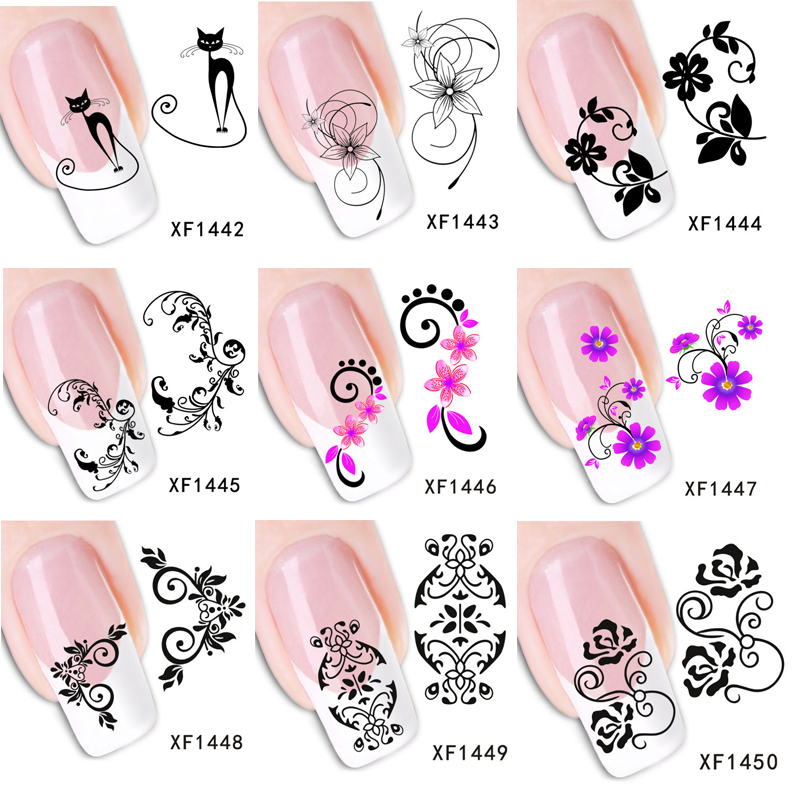 Water Transfer Nail Sticker 50sheets 63 Styles Mixed Flowers Design