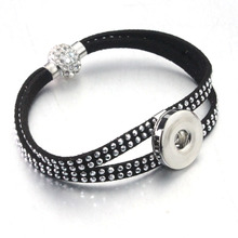 5 colors Rivet Crystal Magnet buckle 18mm metal Snap Button bracelet watches women one direction female