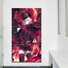 Home Decor Wall Art For Bedroom Modular Picture 3 Piece Anime Fate Grand Order Avenger Jeanne dArc Alter Canvas Print Poster