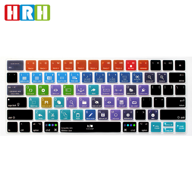 HRH Ableton Live Shortcuts Hotkey Silicone Keyboard Cover Skin for MacBook...