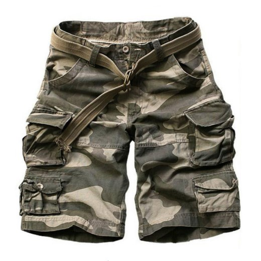 Summer Men army green Camouflage   Shorts   Casual Camo Knee-length 2019 Mens Cargo   Short   trousers bermudas hombre   shorts   with Belt