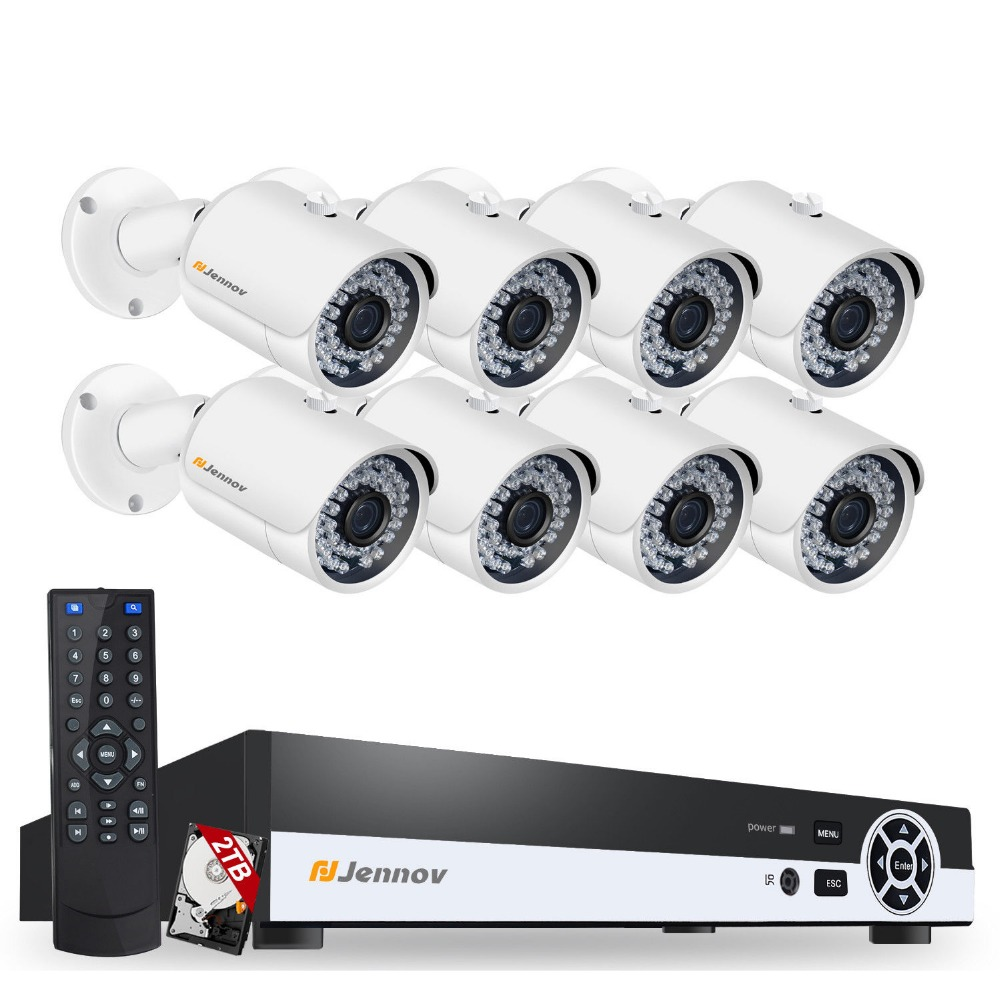 8CH POE 1080P 2MP Home Security Camera With Led Light Video Surveillance System Kit CCTV Set NVR ip Camera Outdoor ipCam IR