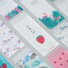 5 шт. Красивая цветная бумага конверт полупрозрачный, с глазурью бумага маленькая легкая сумка цветная бумага конверт мульти-серия