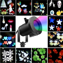 12 Patterns Holiday Led Projector Light Christmas Decoration Moving Light Outdoor Garden Waterproof Party Night Disco Lawn Lamp все цены