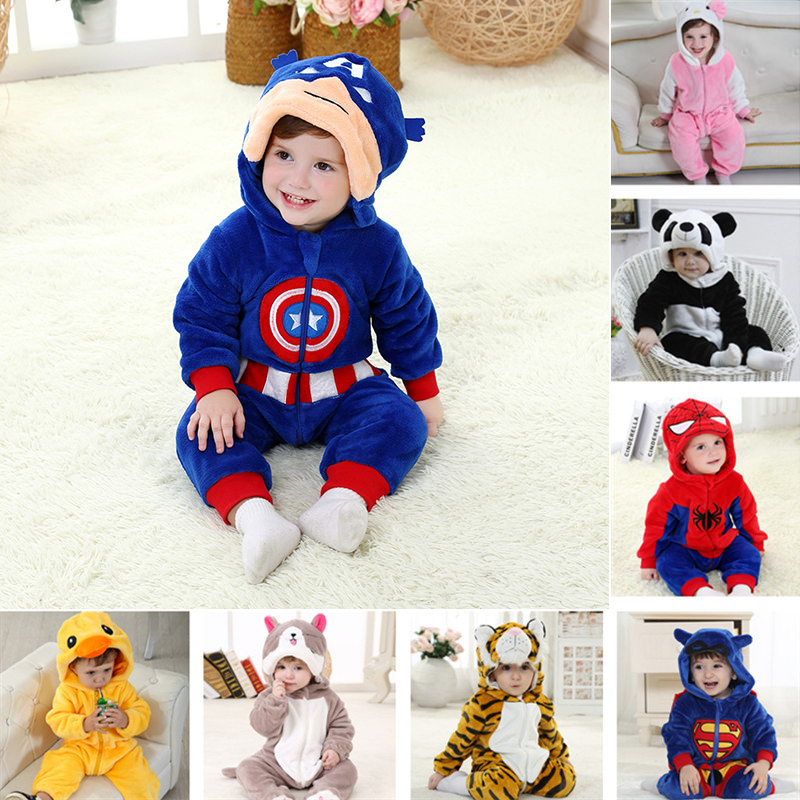 order 1 piece baby romper captain america infant jumpsuit halloween costumes fleece newborn girls boys ropa bebe clothes winter - Where To Buy Infant Halloween Costumes