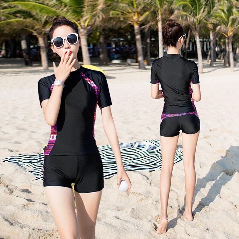 Hot sale racing suit two-piece swimwear 5XL plus size swimsuit 3 colors beachwear short sleeve short pants summer surfing suit все цены