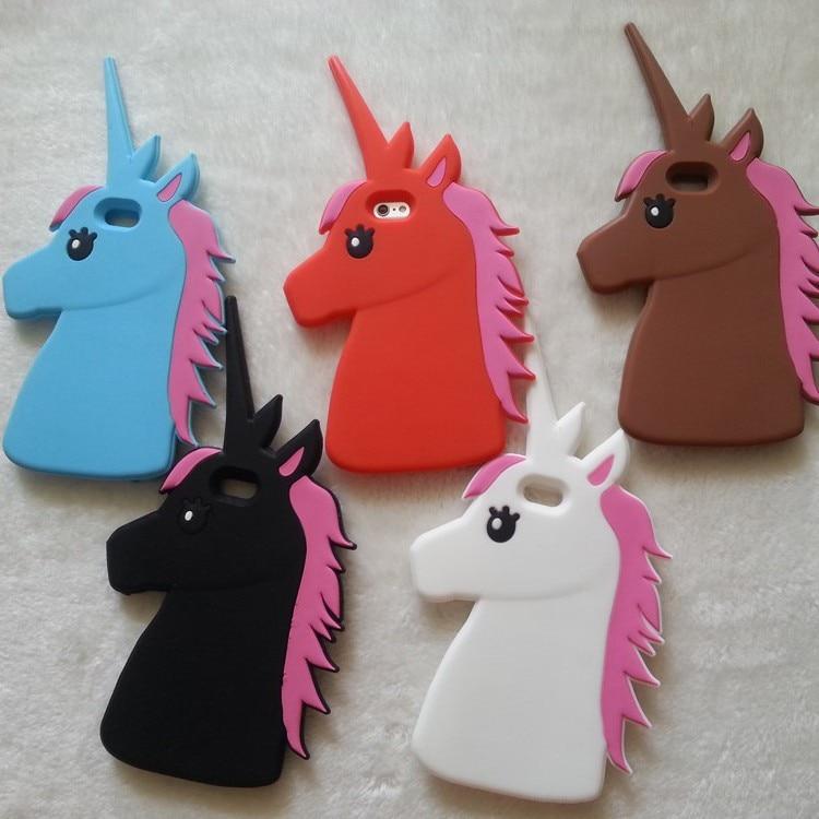 """HTB1VDFEKXXXXXX4XFXXq6xXFXXXl - Fashion 3D Cute Cartoon Unicorn Soft Silicon Rubber Case Cover For iPhone 4 4s 5 5s SE 6 7 6s plus 7 plus 4.7/5.5"""" White Horse"""