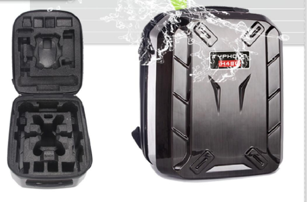 YUNEEC Typhoon H H480 rc Drone Hard Shell Backpack Waterproof Shoulder Bag Case Hardshell Box Without EVA
