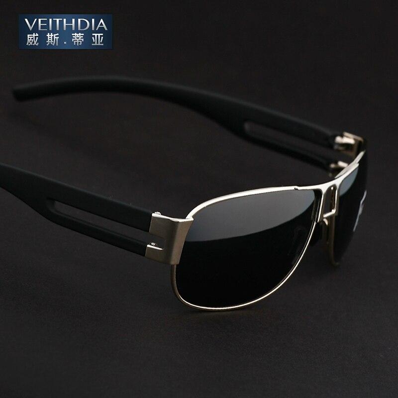 Veithdia 2018 Nova Marca Designer UV 400 4 Cores Polarizada Óculos De Sol  Dos Homens Óculos de Condução Óculos Óculos 8459 c9672789e0