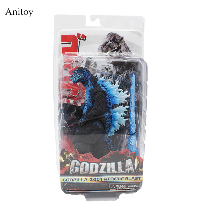 NECA Godzilla 2001 Atomic Blast PVC Action Figures Collectible Model Toys 18cm KT4228 neca gears of war 2 action figures boys hobby toys games collectable 7dominicsantiago figures are