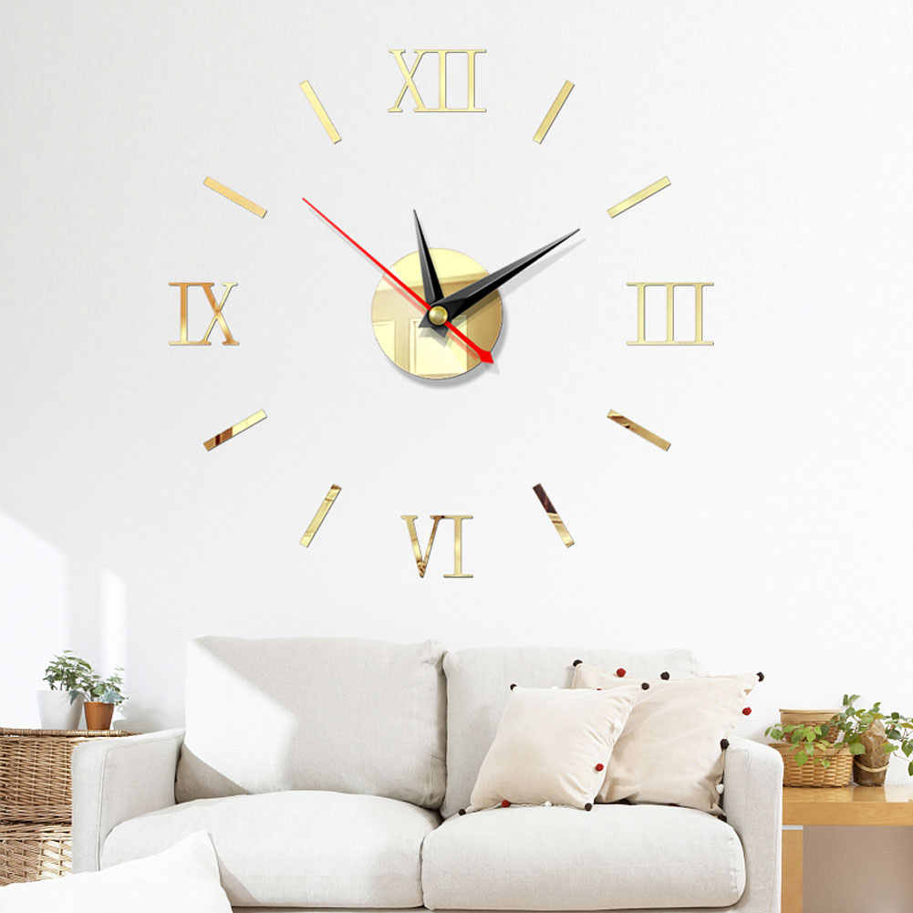 3D Wanduhren Modernes Design DIY Digitale Uhr Acryl Wand Aufkleber Uhren Wohnkultur