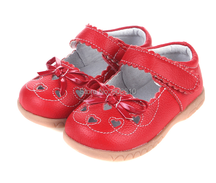 baby girls leather shoes mary jane with heart cut-outs and butterfly white pink and red wholesale retail and free shipping pink and red children sets baby girls